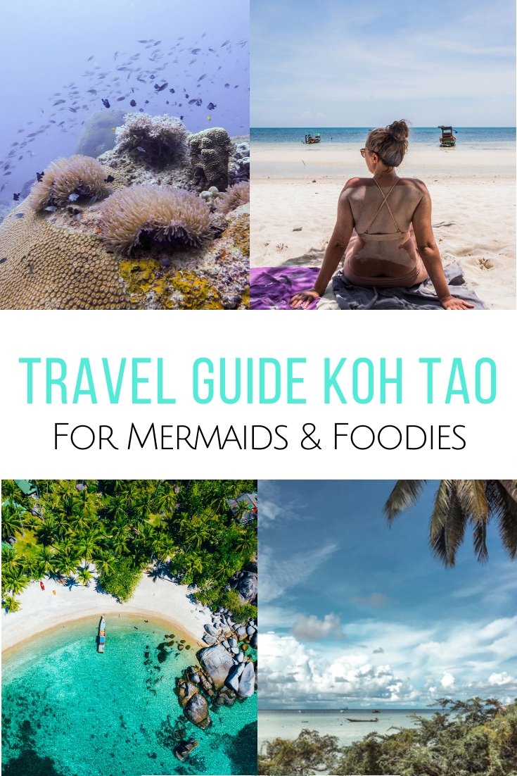 Visit Turtle Island in the Gulf of Thailand with my travel guide Koh Tao for mermaids & foodies. The best places to sleep, restaurants & what to do. #thailand #kohtao