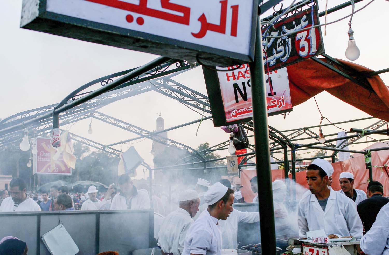 Jemaa el Fna food stall, Marrakech