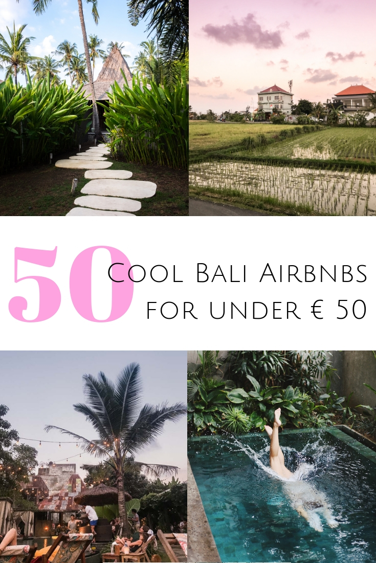Looking for a home away from hom in Bali? Click through for 50 cool Bali Airbnbs for solo travelers and couples for under € 50 per night! #bali #indonesia  Where to stay in Bali | The best Airbnbs in Bali | Cheap Bali accommodation | Bali Airbnbs in Canggu | Best Airbnbs in Ubud