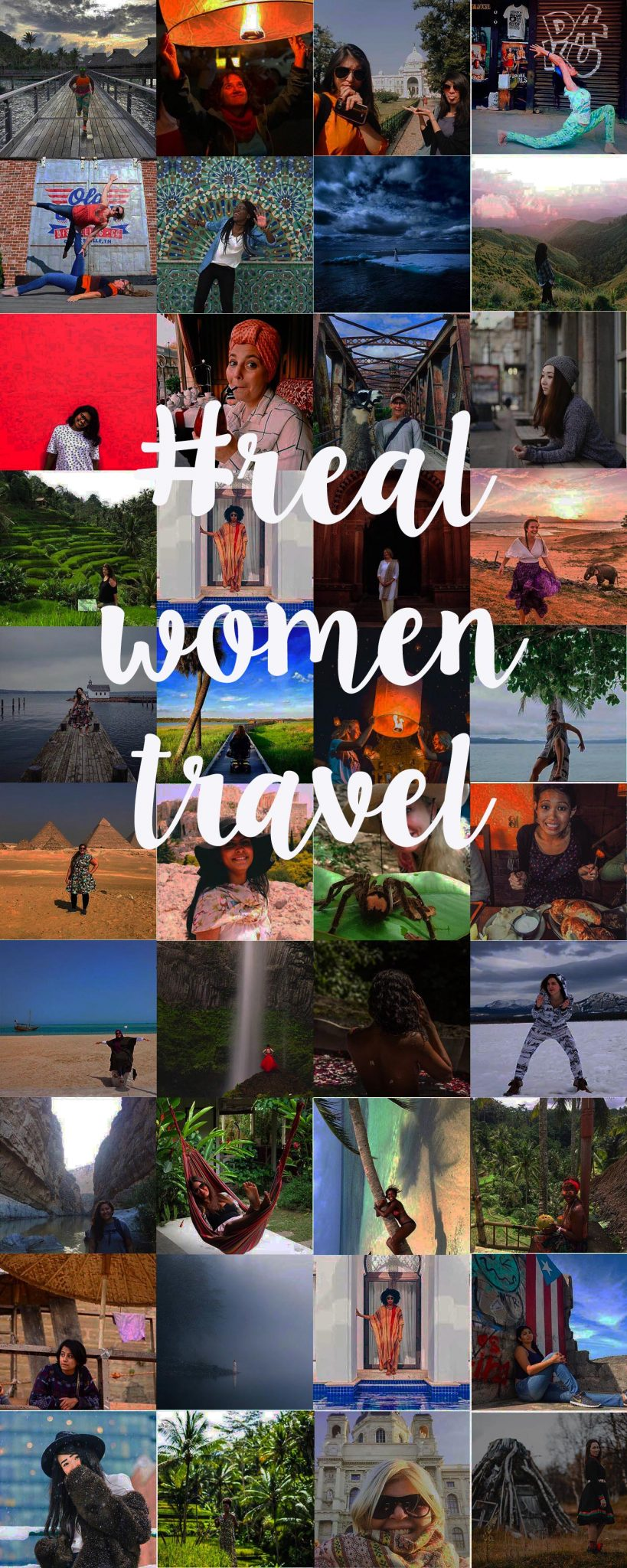 Looking for some different travel inspiration on Instagram? I give you #realwomentravel - a round-up of some kick-ass female travelers to follow and get inspired by. #girlpower #womentravel #femaletraveler