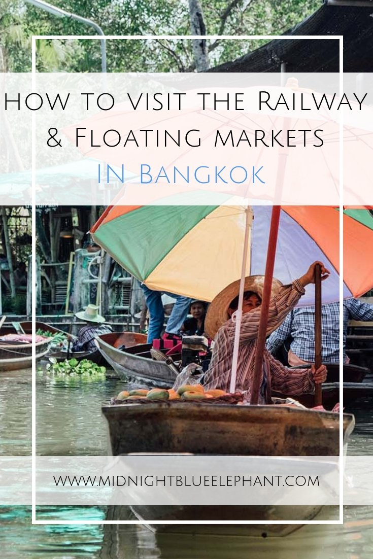 Day trips from Bangkok are a great opportunity to explore more of Thai culture. Start with a tour to see the railway market & the floating markets of Bangkok. Visit the Amphawa floating market for a typical Thai breakfast, shop on the tracks of the railway market and explore the canals from the water. #thailand #bangkok #railwaymarket #floatingmarket #thaifood #bangkoktours #foodtour