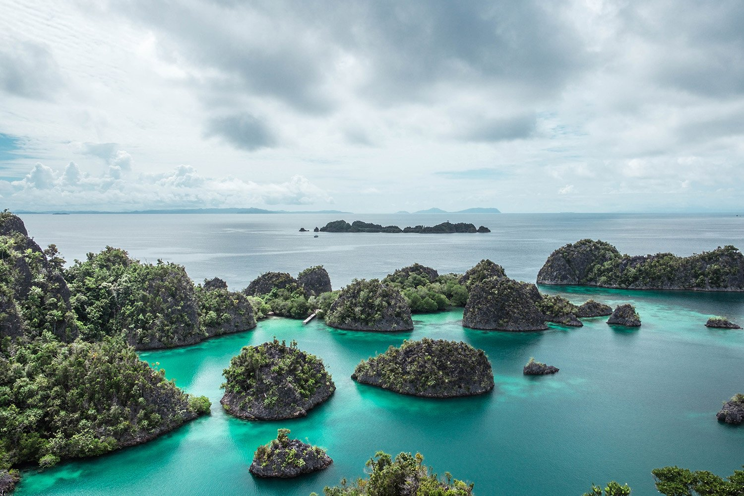 Islands from the top in Raja Ampat
