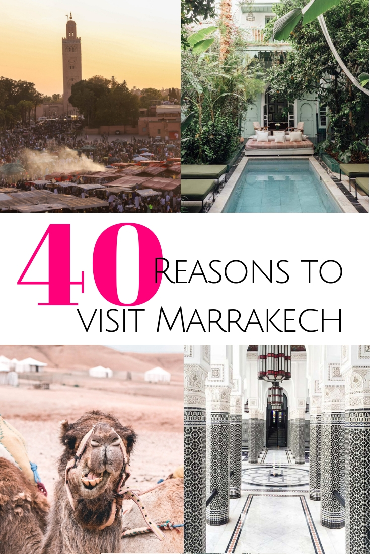 Planning to visit Marrakech? This post shares travel tips for your Morocco trip, 40 great reasons why you should see the Red City & what to do in Marrakech.  #morocco #marrakech   What to do in Marrakech | Things to do in Marrakech | Practical tips for Marrakech holiday | Marrakech activities | Marrakech Sightseeing  #marrakech #morocco