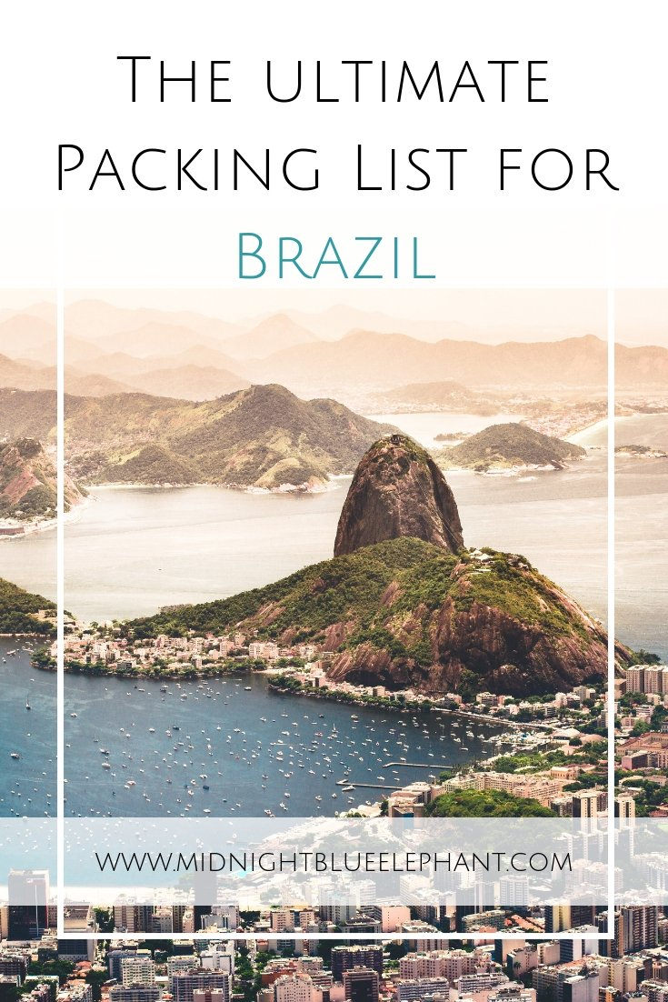 What to pack for Brazil is not easy to answer as it is such a diverse country. Travel experts have put together a must-pack list for clothing & essentials.  #brazil  What to pack for Brazil   Brazil clothing you have to pack   Packing list for Brazil holidays   Travel essentials for Brazil Trip