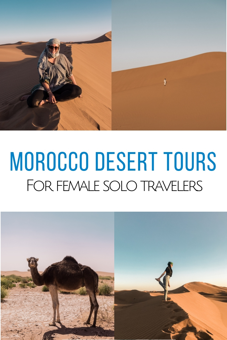 Traveling on your own and looking for Morocco Desert Tours? Look no further because I have just the one for you: take a desert trip from Marrakech, glamp under the stars in the Sahara and make new friends with My Moroccan Adventure. #morocco #marrakech #sahara   Morocco desert tours for women | Sahara desert tours | How to get to the Moroccan desert | Marrakech desert tours | Ride a camel in the desert | Glamping in Morocco | Glamping in the desert in Morocco