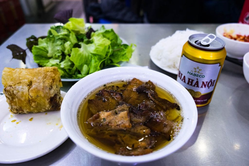 bowl of bun cha obama in Hanoi