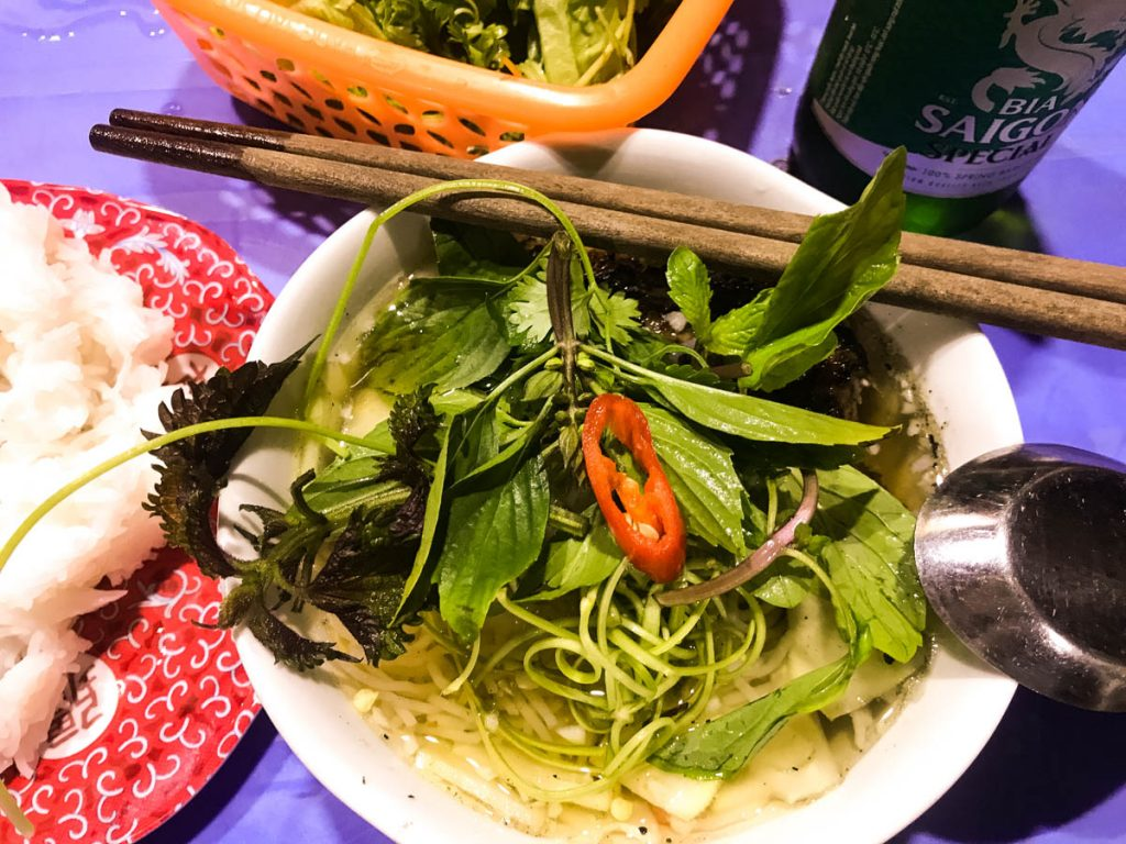 bowl of bun cha in Hanoi